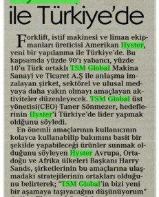 Hyster TSM İle Türkiye'de
