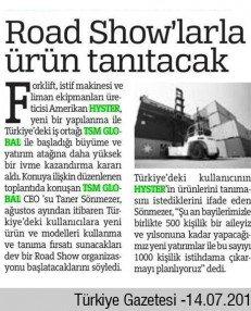 Road Showla Tanıtacak